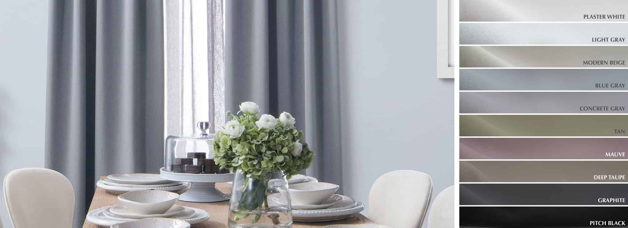 Block - Collection Curtains Smooth finish blackout Fabric