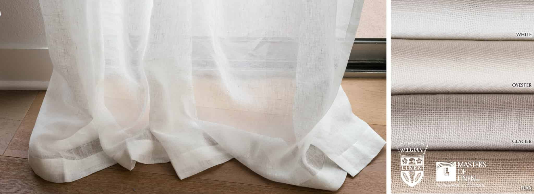 Antwerp - Collection Curtains 100$ Belgian Linen Sheer Fabric