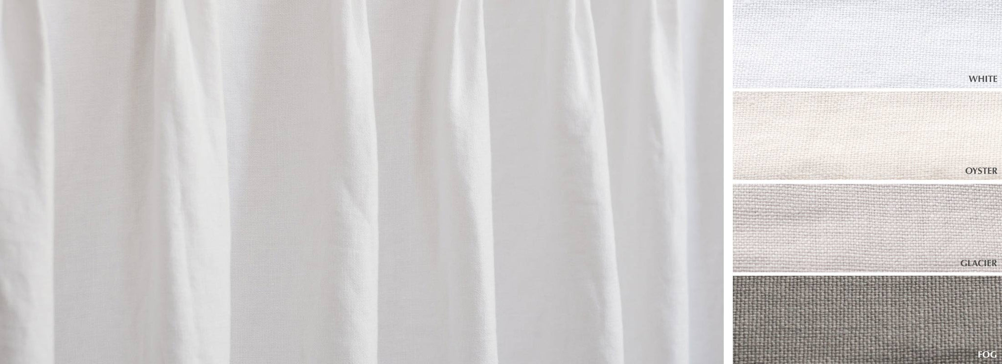 Flanders - Collection stone washed belgian linen heavy weight semi-sheer Fabric