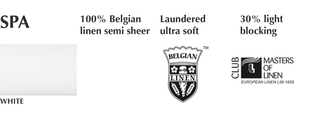 belgian linen white semi-sheer custom curtain swatches