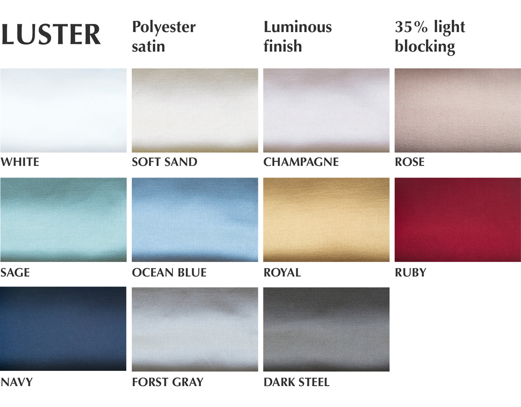 faux silk luster curtain swatches