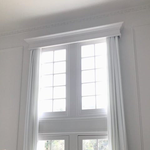 renovation custom made white curtains in bel air california