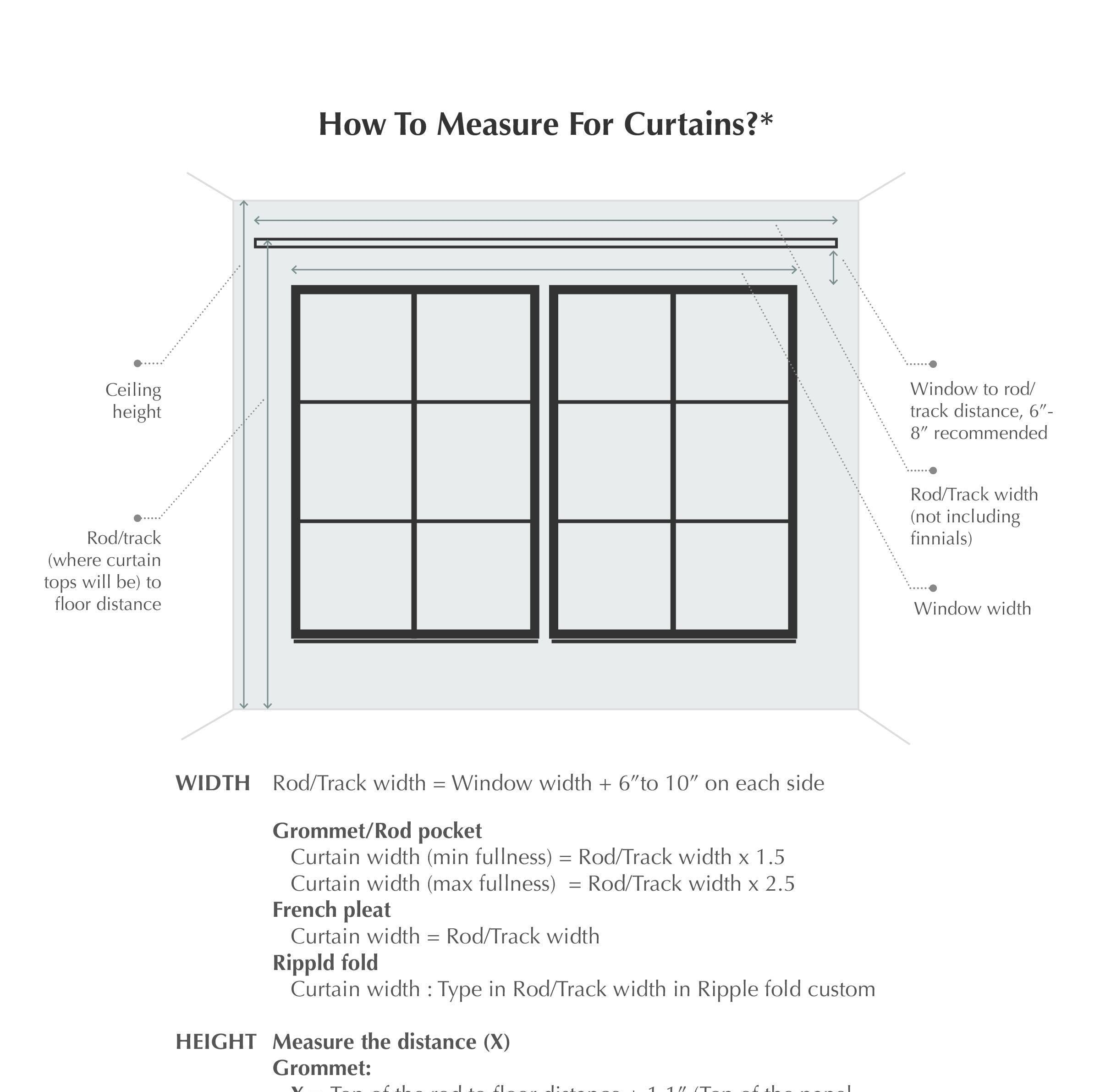 How to measure for curtains?