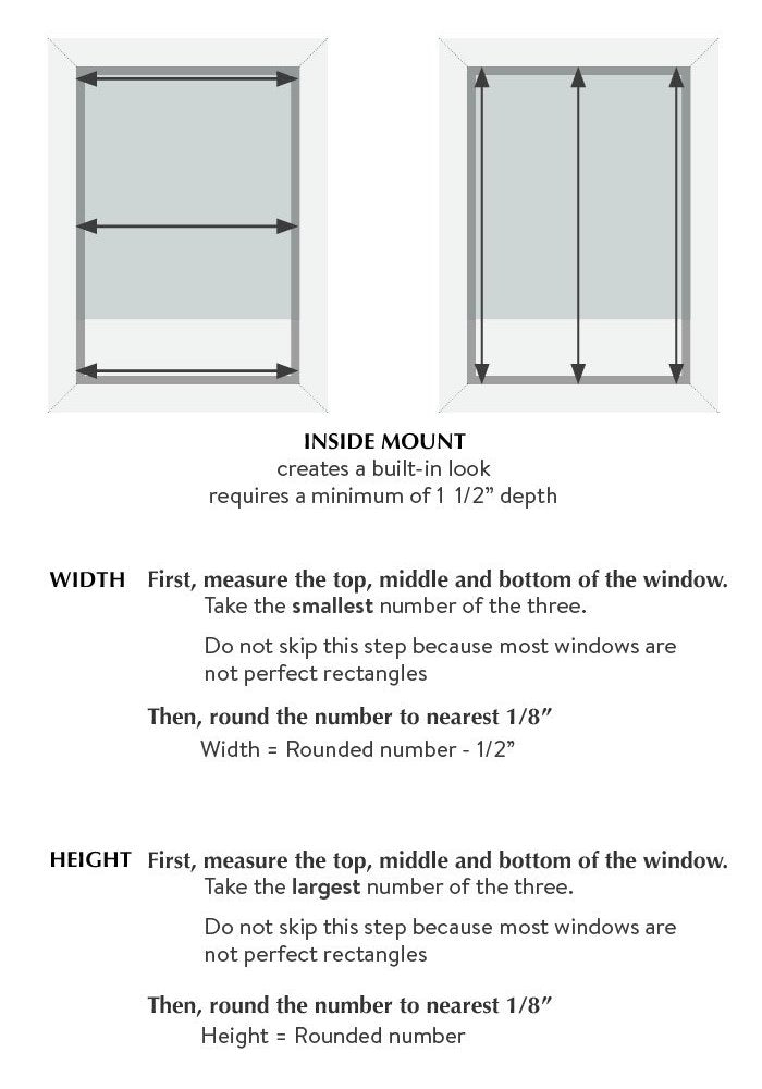 how to measure for roman shades inside mount by loft curtains