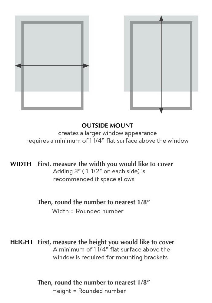 how to measure for roman shades outside mount by loft curtains