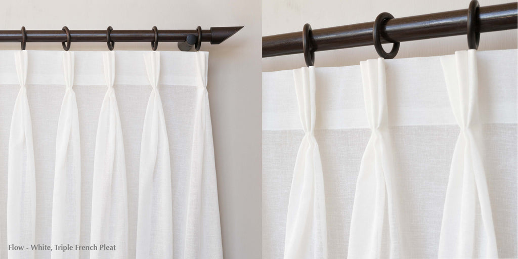 loft curtains triple french pleat heading style flow white