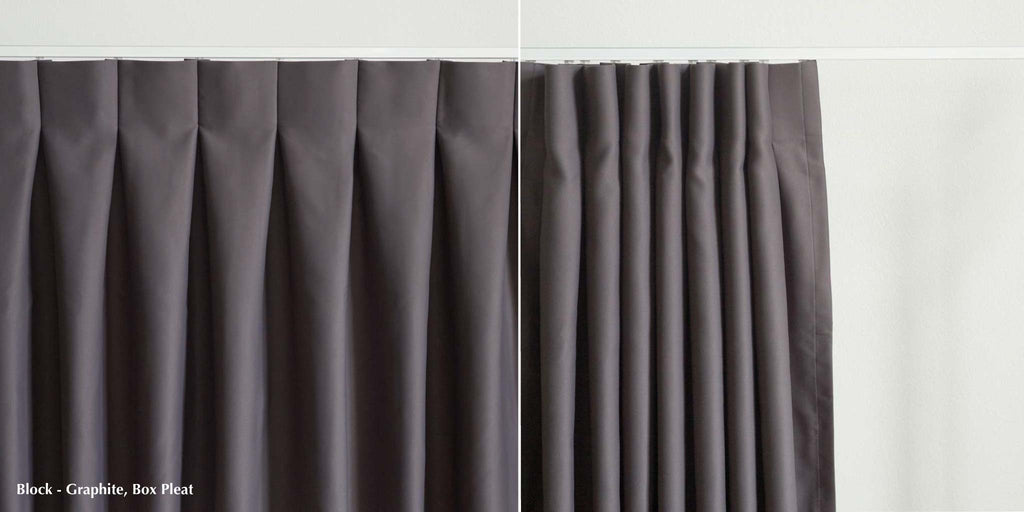 Box pleat heading style by Loft Curtains