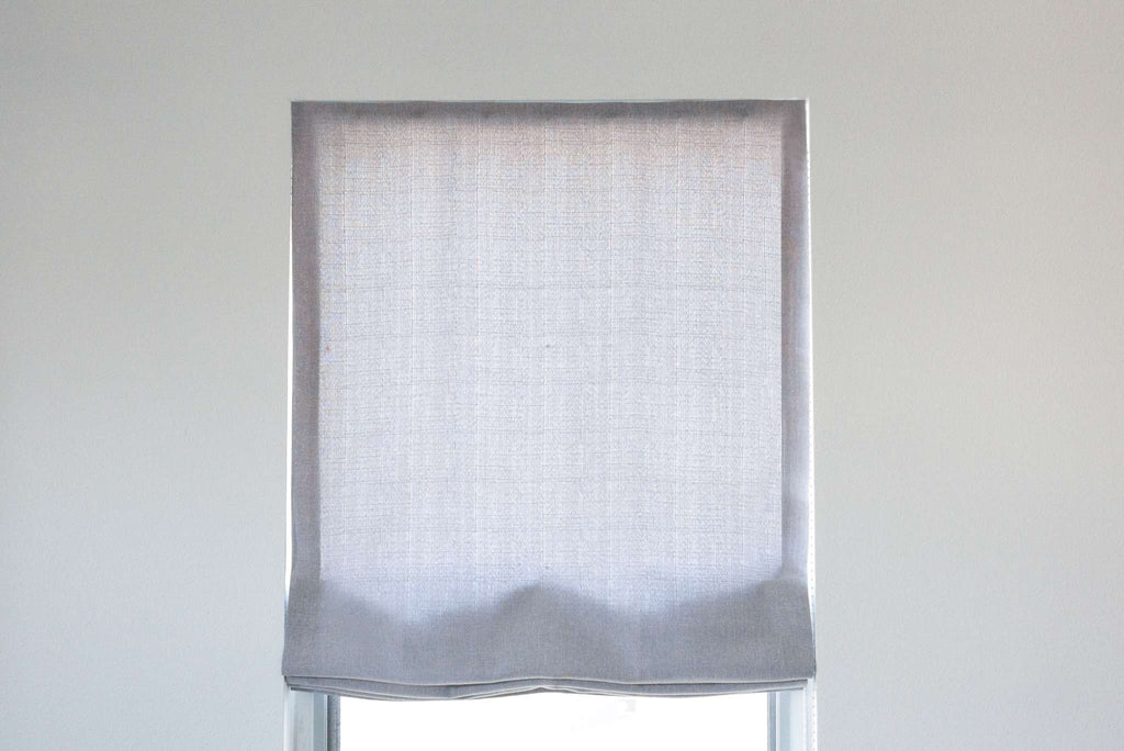 flat roman shade by loft curtains