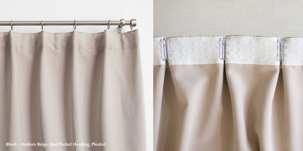 Which Curtain Heading Should I Choose Rod Pocket Grommet Pinch Pleat Loft Curtains
