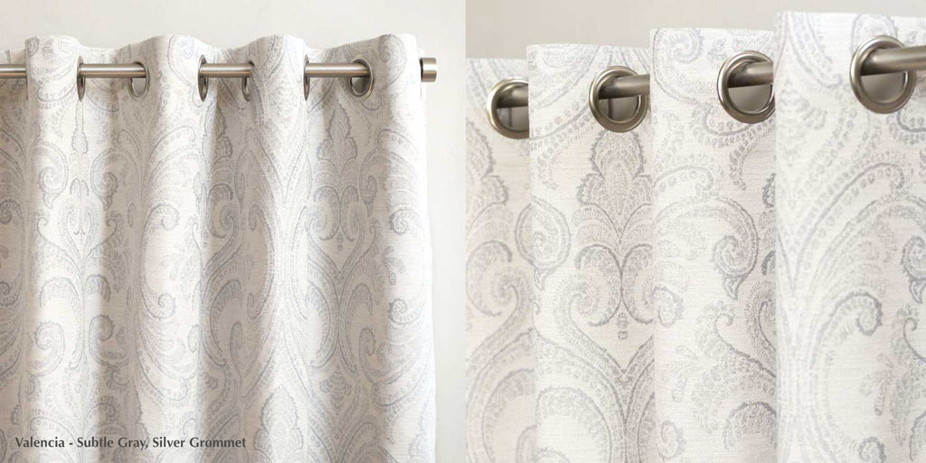 Grommet silver by loft curtains for custom drapery