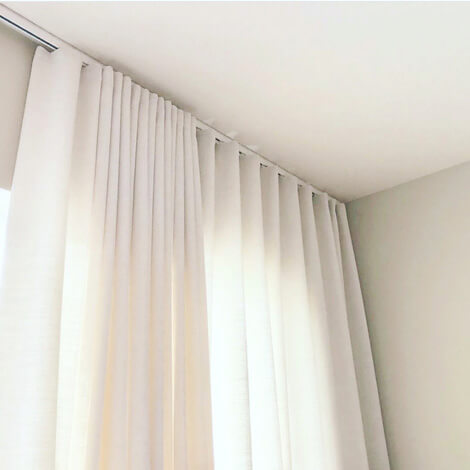 Grace Soft White Semi Sheer Ripplefold Curtains