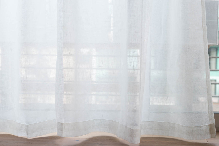 belgian linen white sheer by loft curtains curtom