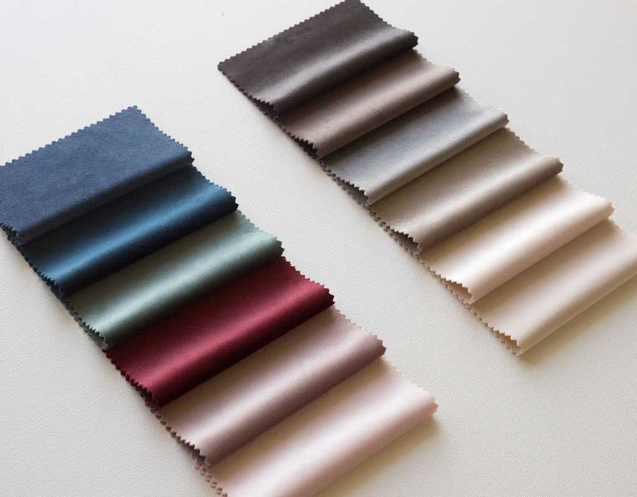 lush velvet fabric collection swatches