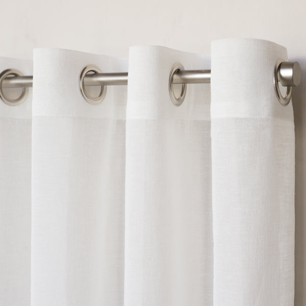 grommet custom drapery by loft curtains in white