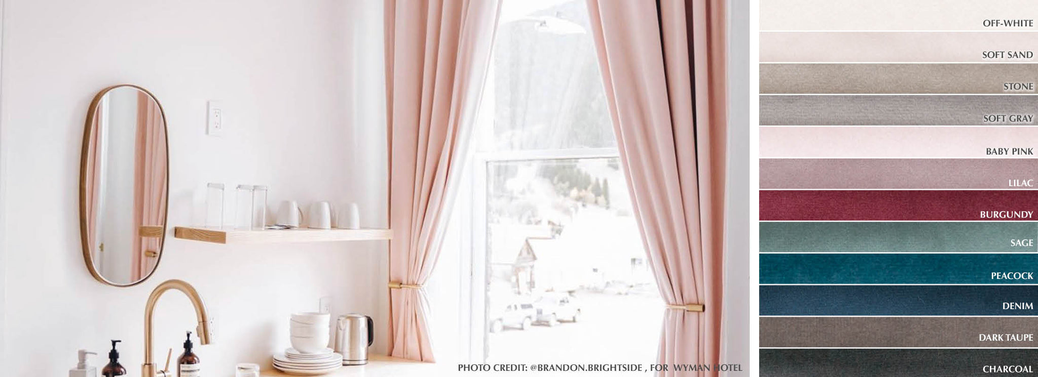 Lush - Collection Curtains Ultra soft velvet Fabric