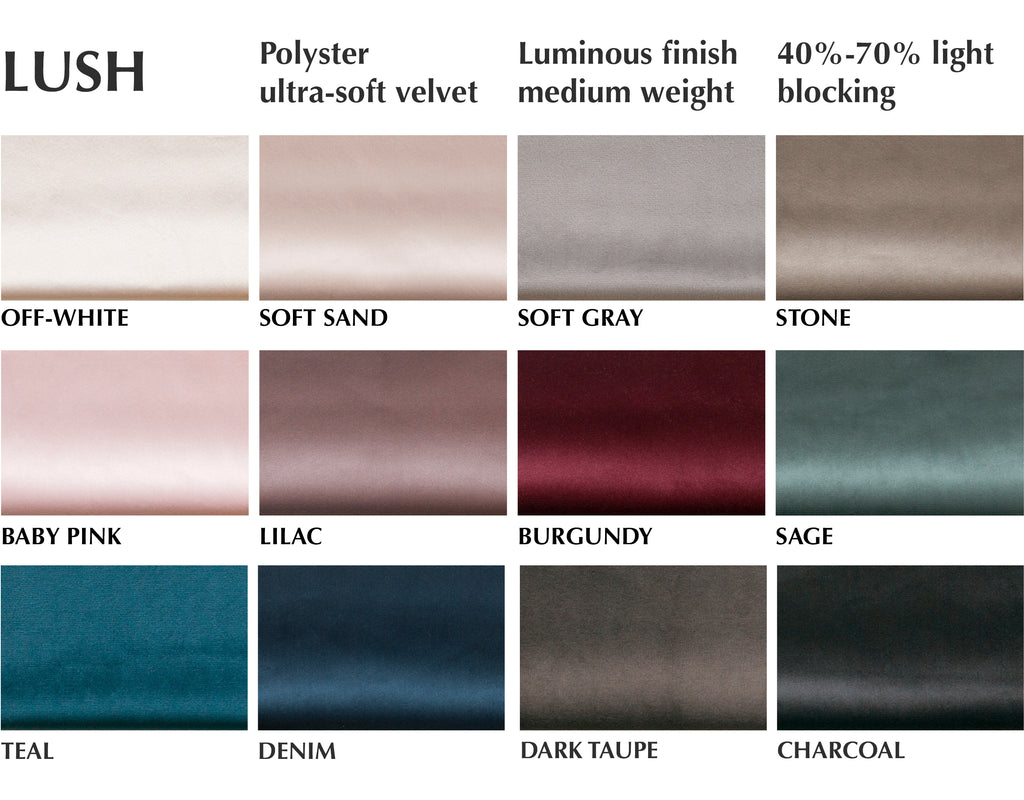 ultra soft velvet curtain swatches