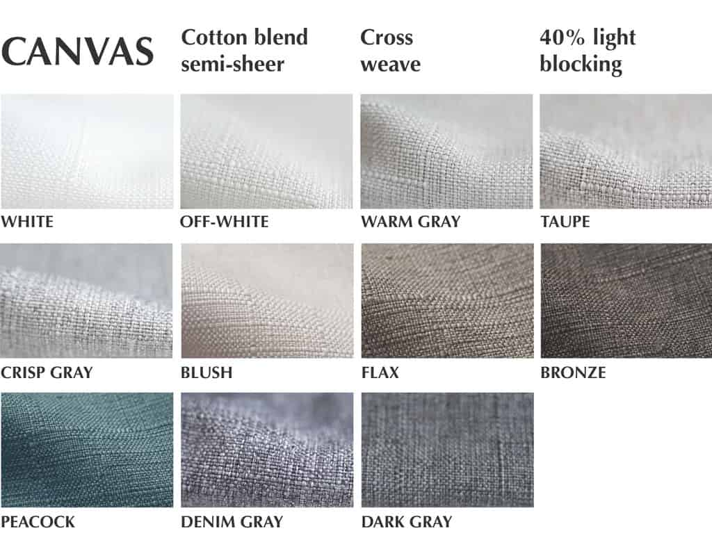 canvas cross weave fabric for custom curtains