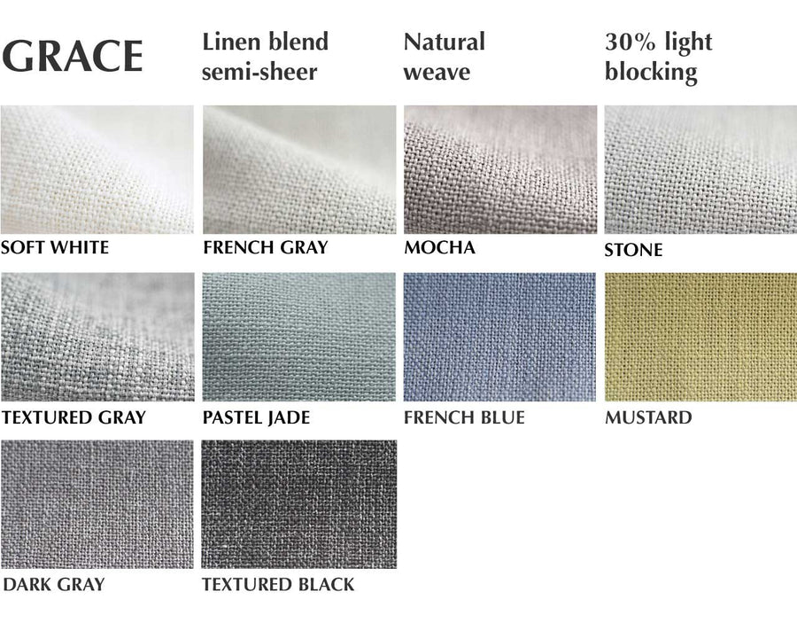 Grace linen blend semi sheer from loft curtains fabric swatch