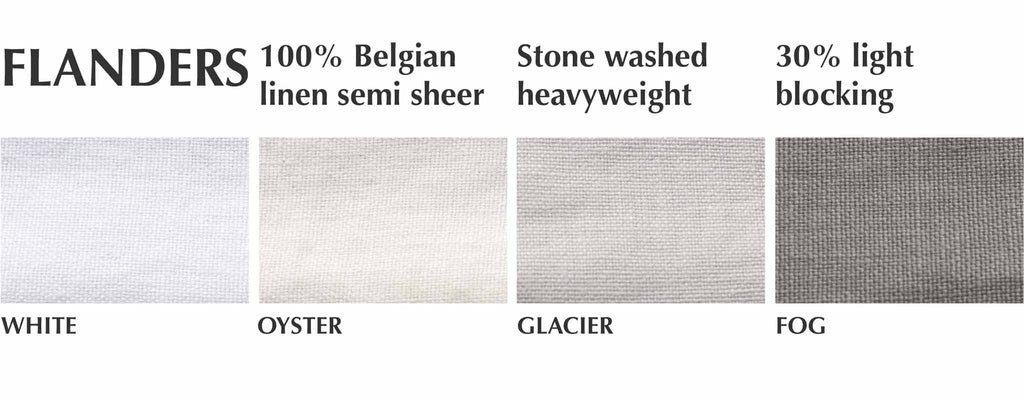 stone washed belgian linen curtain swatches