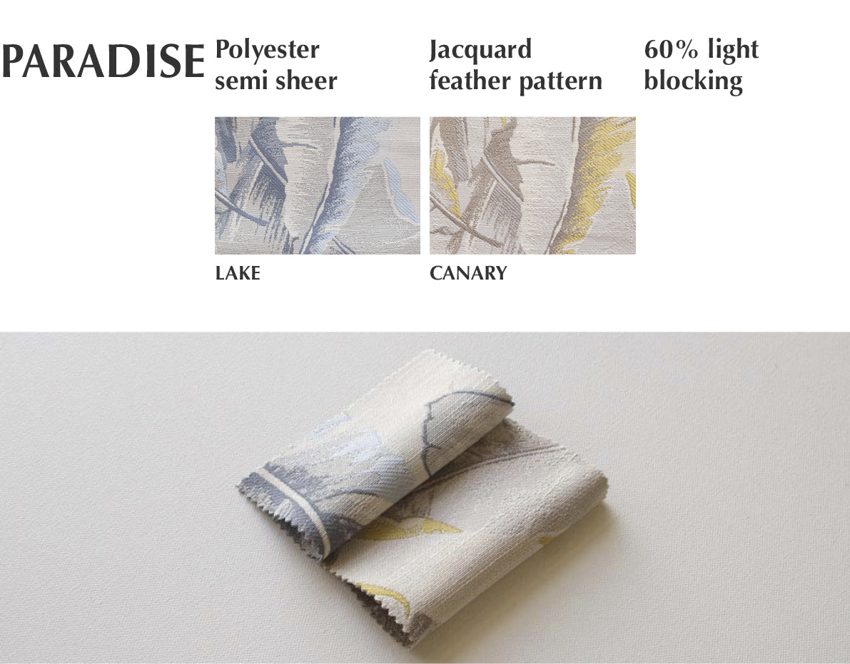 paradise jacquard leaf pattern fabric swatches
