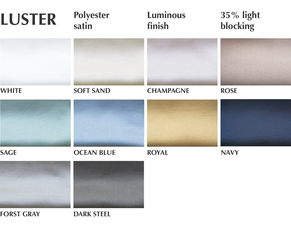 faux silk luster fabric custom curtains