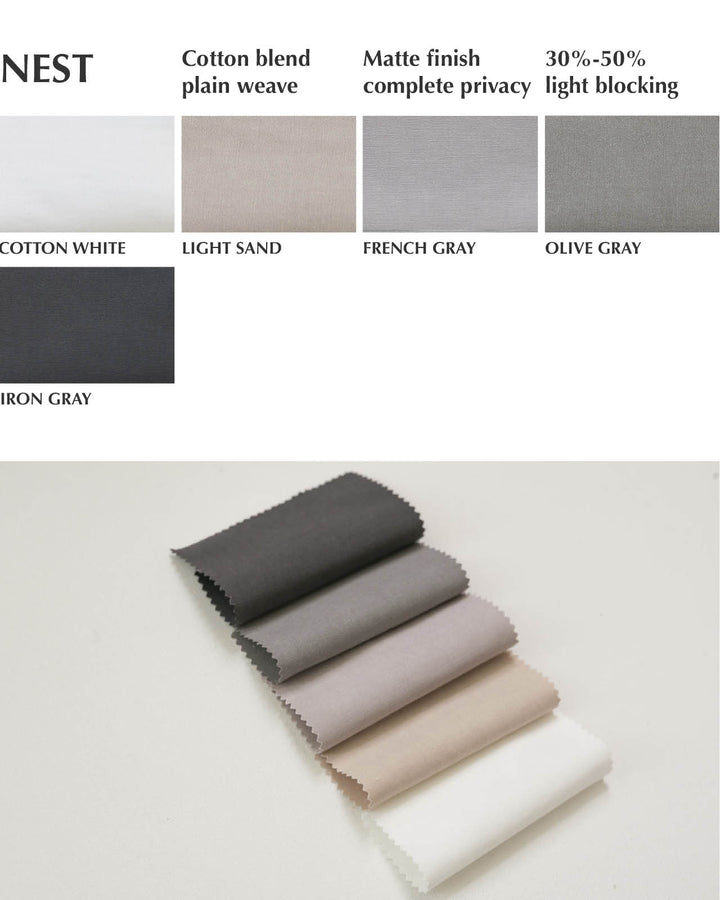 nest cotton blend fabric collection custom curtains