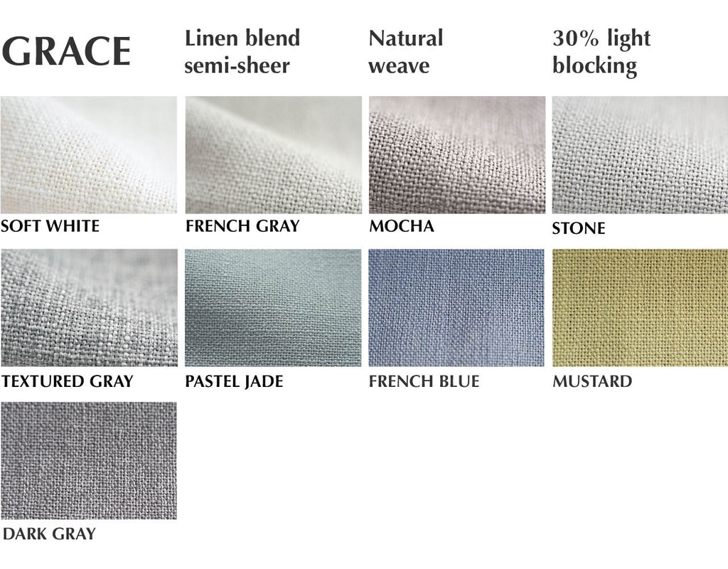 semi-sheer linen fabric by loft curtains