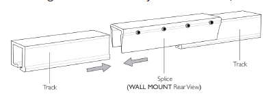 wall mounted ripple fold curtains track install splice