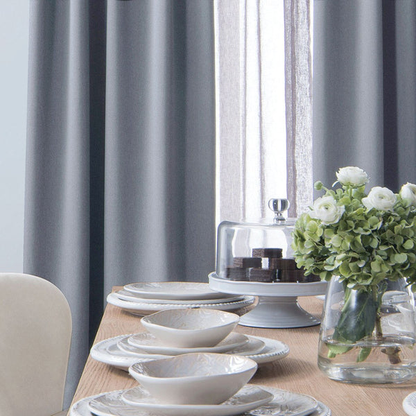 block light weight blackout drapery blue gray extra long curtains drapery