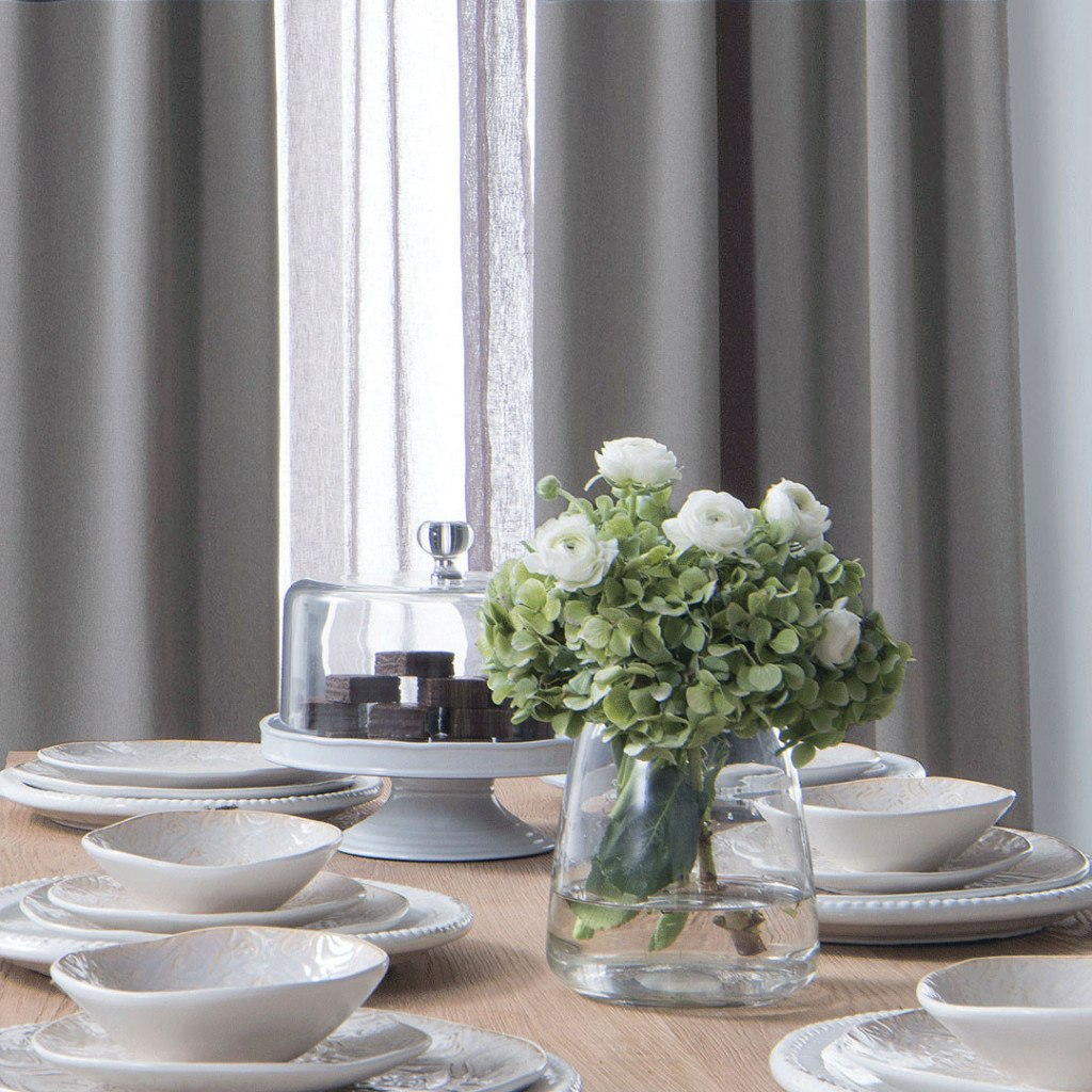 BLOCK   Light Weight Blackout Curtains   Concrete Gray  Extra Long Curtains    Drapery