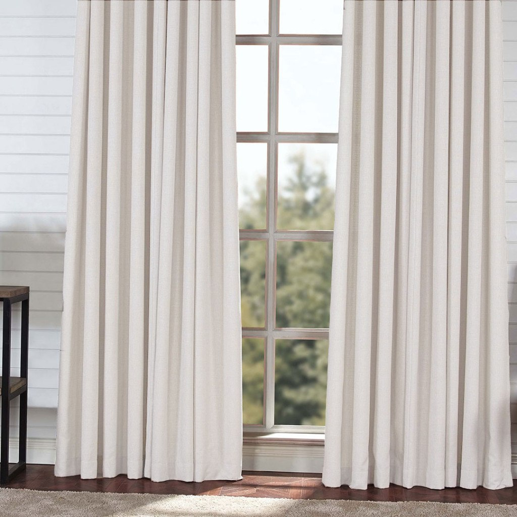 BLOCK   Medium Weight Blackout Curtains   Plaster White  Extra Long Curtains    Drapery