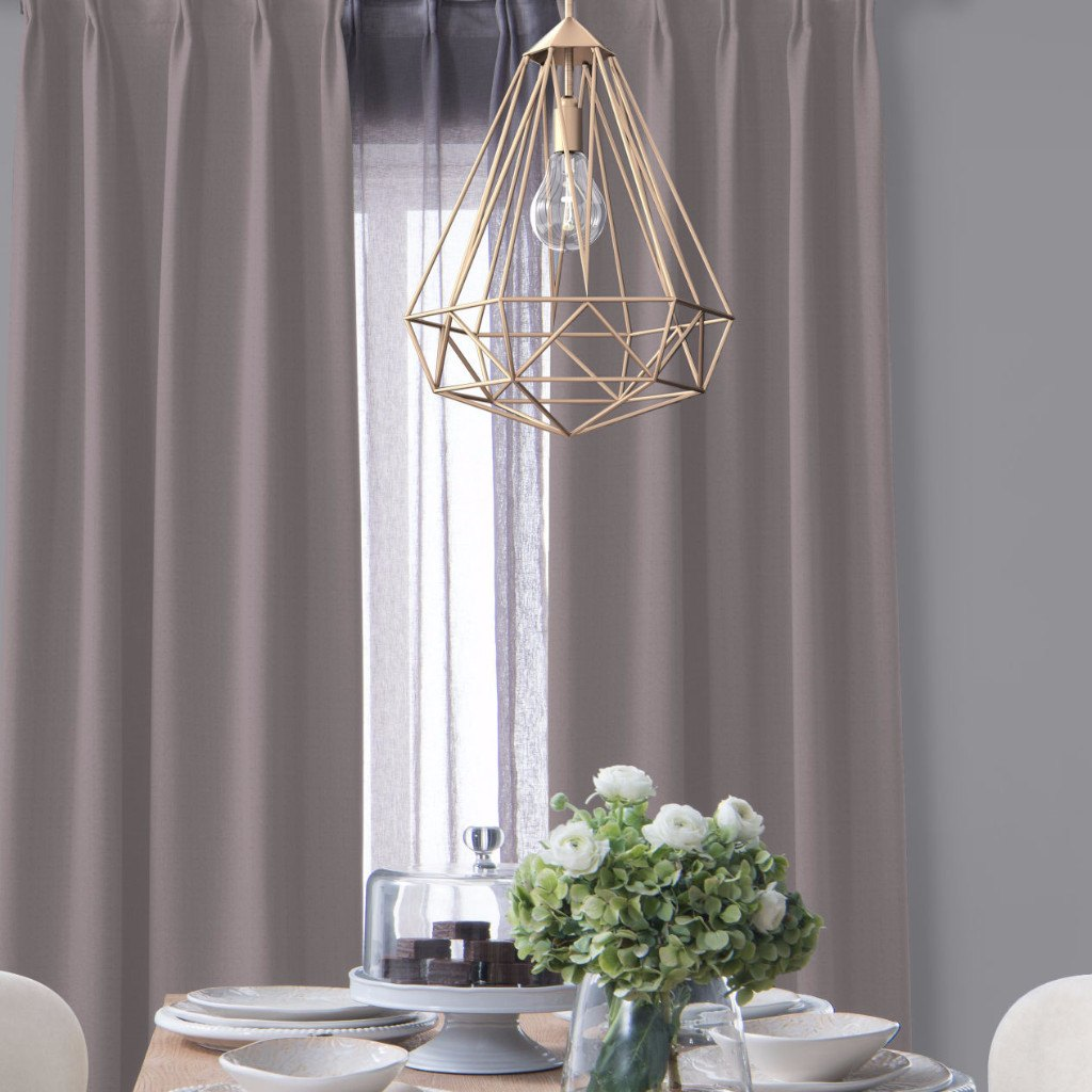 BLOCK - Medium weight blackout curtains - Mauve -extra long curtains - drapery - Loft Curtains
