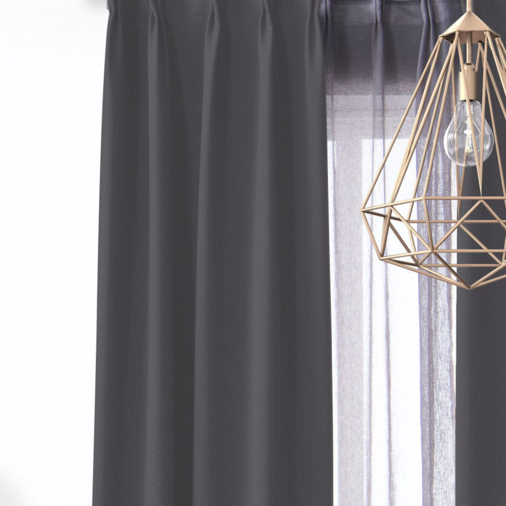 BLOCK - Light weight blackout curtains - Graphite -extra long curtains - drapery - Loft Curtains