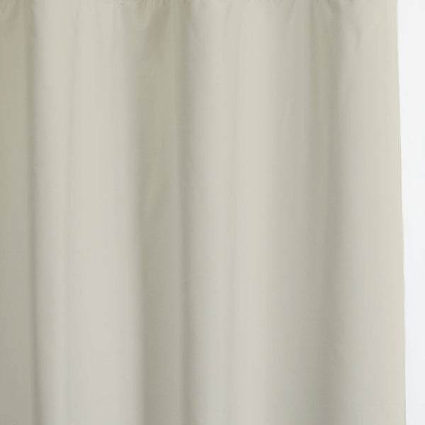 Solid - Smooth Finish 100% Blackout - Light Beige -extra long curtains - drapery - Loft Curtains