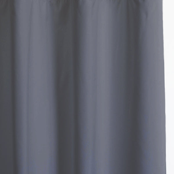 Solid - Smooth Finish 100% Blackout - Space Gray -extra long curtains - drapery - Loft Curtains