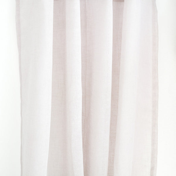 FLOW - Linen open weave sheer curtains - Shadow white -extra long curtains - drapery - Loft Curtains
