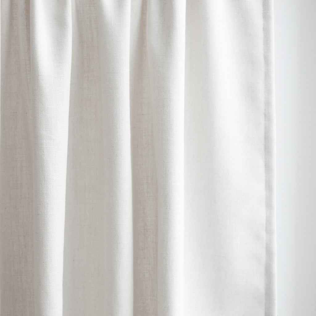 Extra long curtain, Off-white, linen, custom length by Loft