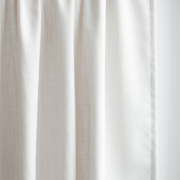 GRACE - Linen blend textured curtains - Off-White -extra long curtains - drapery - Loft Curtains