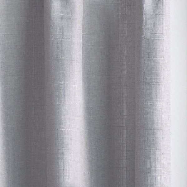 CANVAS - Cotton blend cross weave curtains - Crisp Gray -extra long curtains - drapery - Loft Curtains