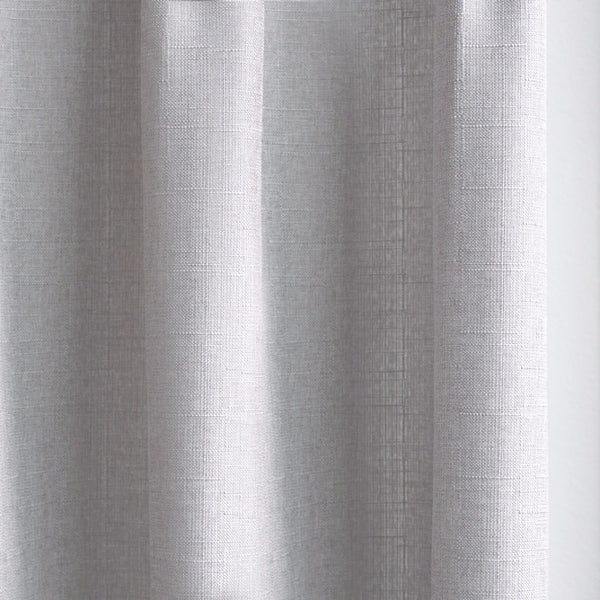 CANVAS - Cotton blend cross weave curtains - Warm Gray -extra long curtains - drapery - Loft Curtains