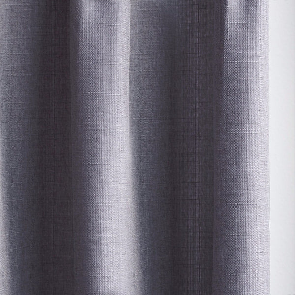 CANVAS - Cotton blend cross weave curtains - Denim Grey -extra long curtains - drapery - Loft Curtains