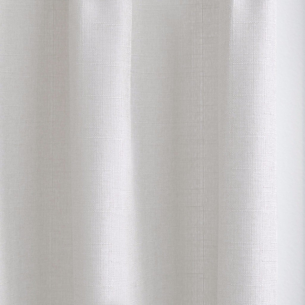 CANVAS   Cotton Blend Cross Weave Drapery   Off White   Extra Long Curtains