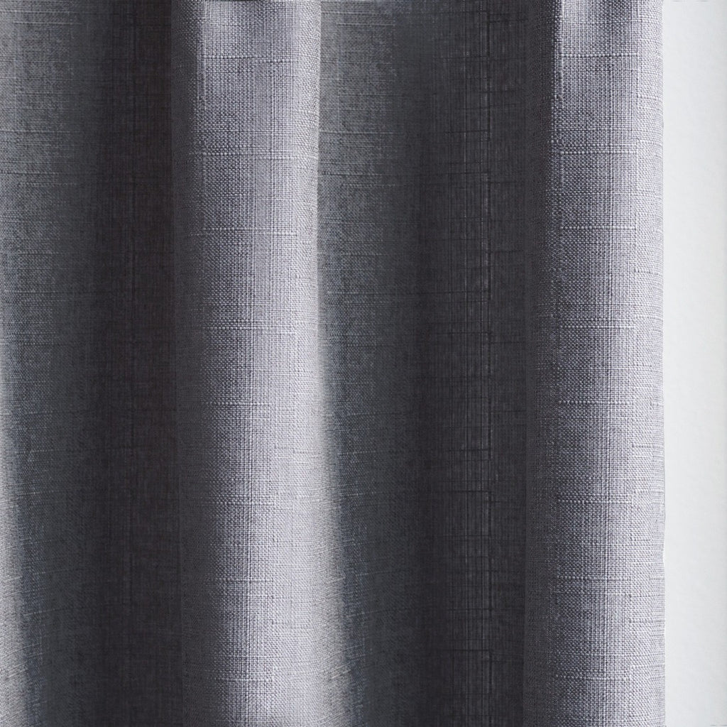 CANVAS - Cotton blend cross weave curtains - Dark Gray -extra long curtains - drapery - Loft Curtains