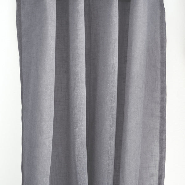Flow Collection Extra Long Sheer Linen Panels Loft Curtains