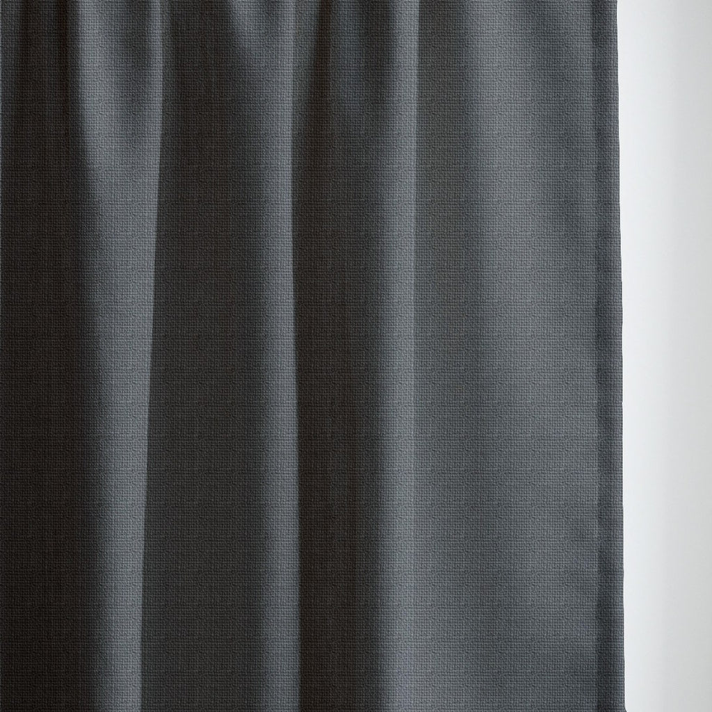 GRACE - Linen blend textured curtains - Textured Black -extra long curtains - drapery - Loft Curtains