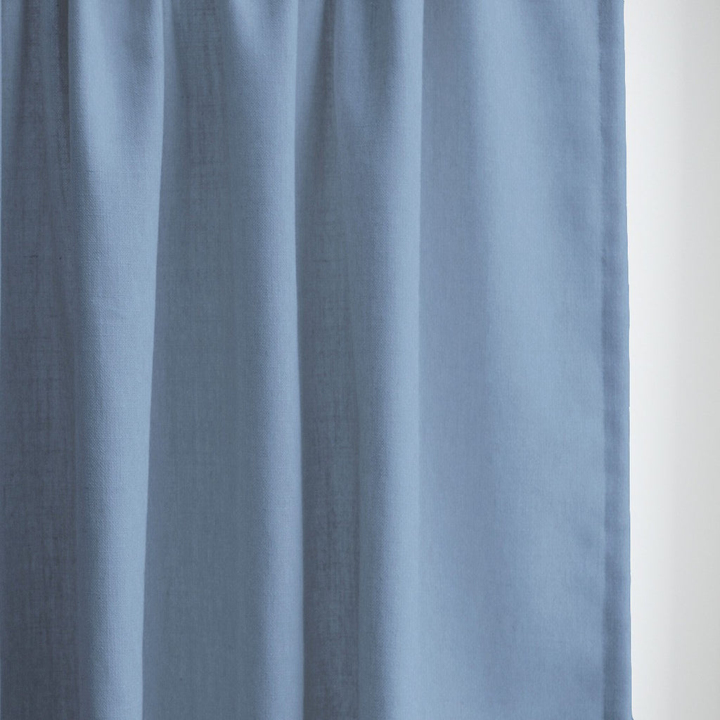 GRACE - Linen blend textured curtains - French Blue -extra long curtains - drapery - Loft Curtains