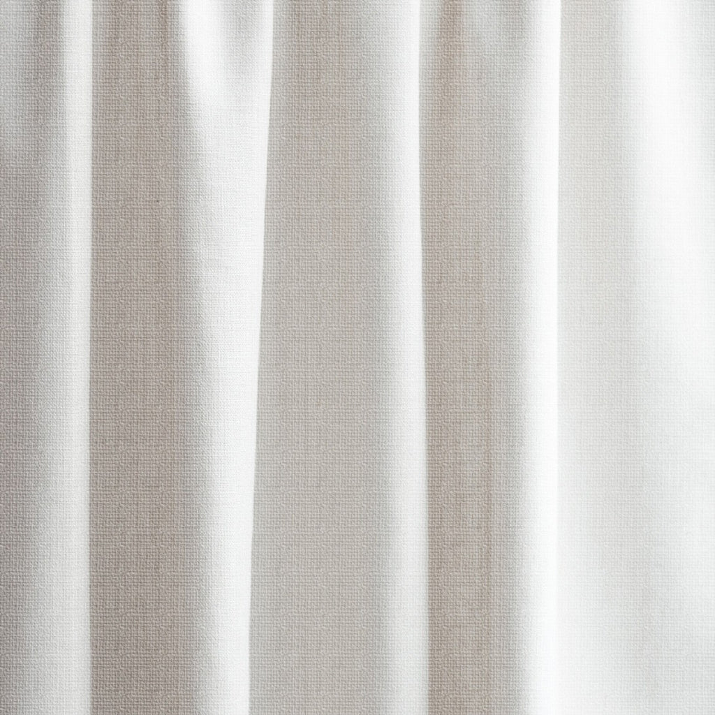 Extra Long Textured Blackout Curtain Custom Length In Pearl White