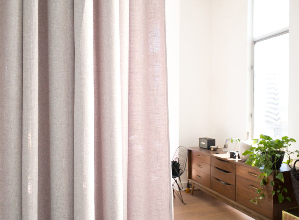 Canvas - Extra long curtains, cross weave, room dividers – Loft Curtains