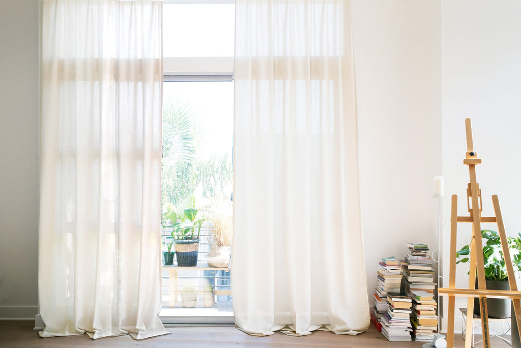 GRACE - Extra long drapery, White, Custom curtains by Loft Curtains