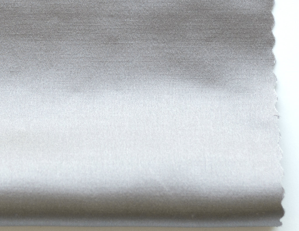 LUSTER - Satin semi sheer - Frost Gray -extra long curtains - drapery - Loft Curtains